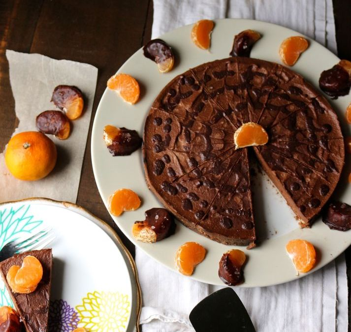 Dark Chocolate Orange Raw Cheesecake