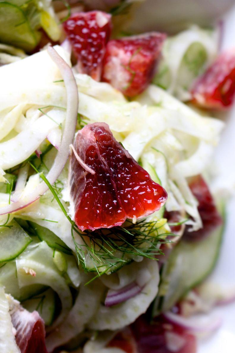 Blood orange and fennel salad with fresh ginger vinaigrette