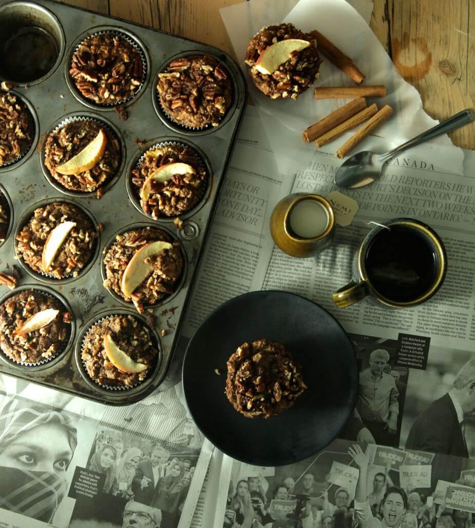 cinnamon apple streusel muffin