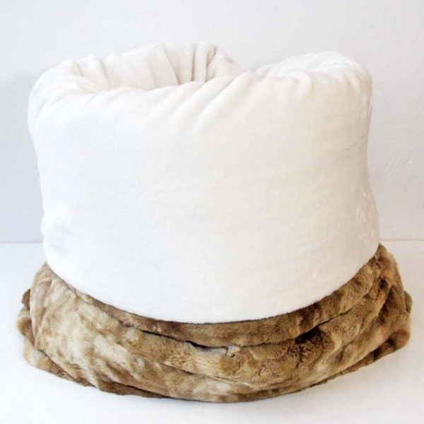 Beige Cozy Burrow Bed