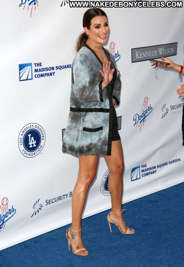 Lea Michele Los Angeles Paparazzi Celebrity Beautiful Babe Los