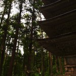 Five-storied pagoda on the mountainside of Mt.Haguro, built over 600 years ago.