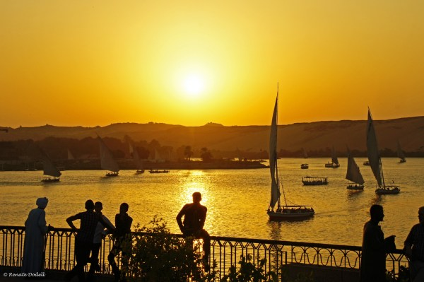 Sunset in Aswan, Egypt