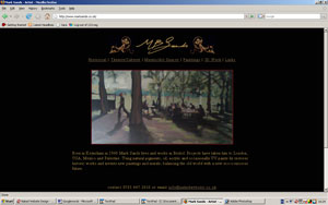 HTML website for Mark Sands