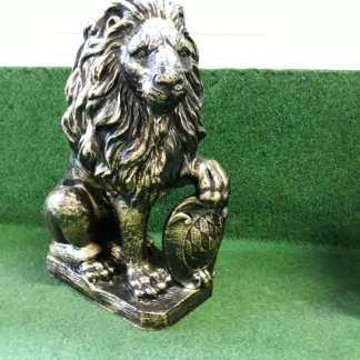 staander leeuw brons