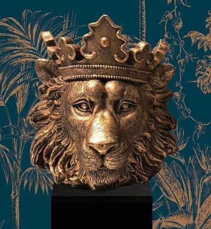 Leeuwenkop goud bloempot