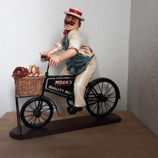 Slager op fiets