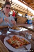 Pizza im Safari