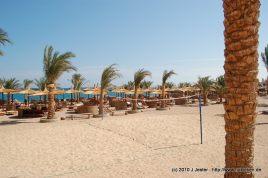 Volleyballplatz am Strand des Hotels