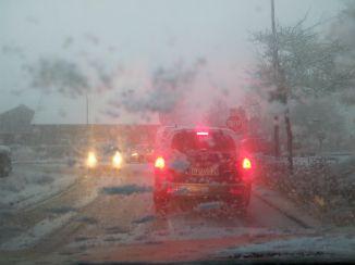 Winter an der Kreuzung am Schoolpad in Aurich
