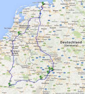 Tour von Aurich nach Speyer