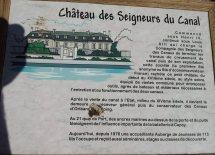 Chateau des Seigneurs du Canal Schild