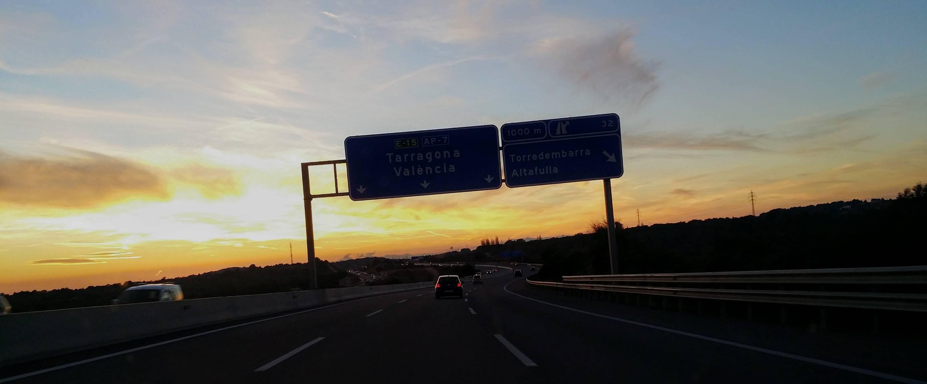 Autobahn AP7 nach Spanien