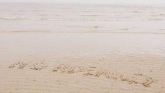 Norderney in den Sand geschrieben
