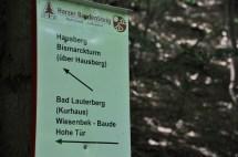Wegweiser für Wanderwege