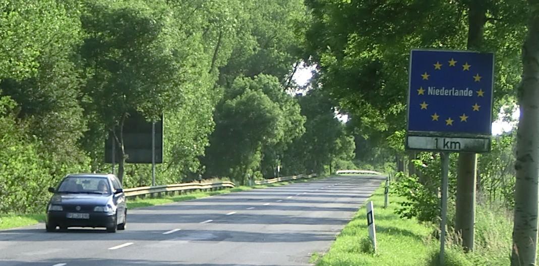Grenzschild Niederlande
