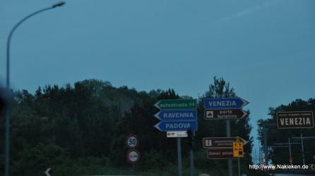 Weg nach Venedig