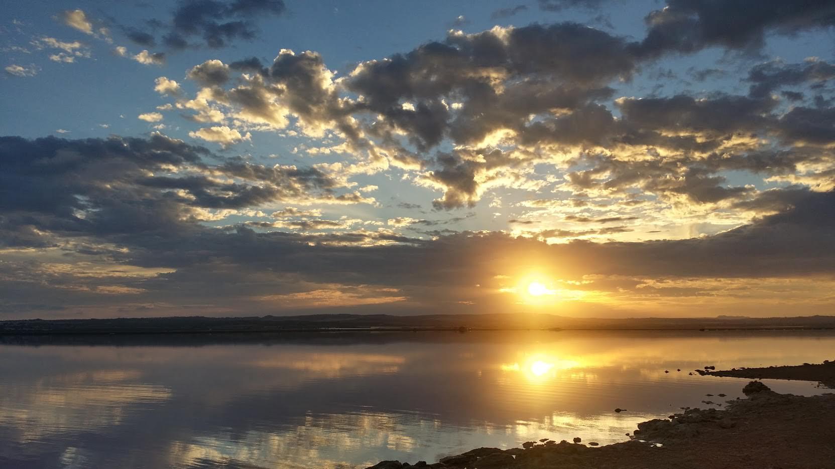 Sonnenuntergang am Salzsee