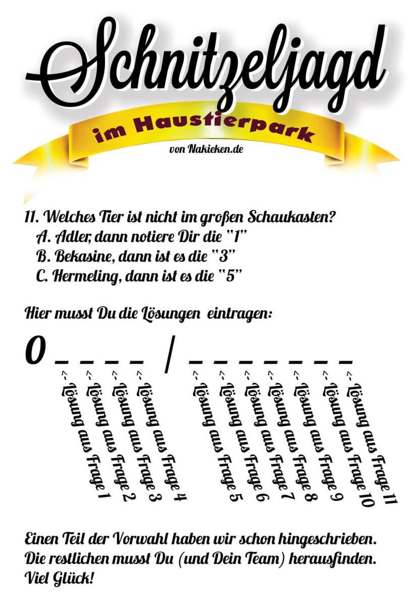 Schnitzeljagd Rätsel Seite 4