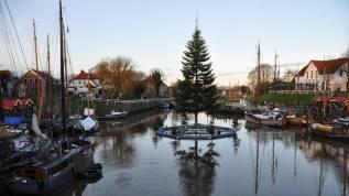 Weihnachtsbaum im Hafen