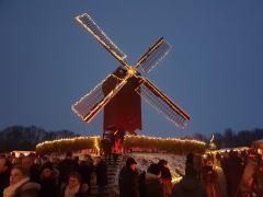 Beleuchtete Mühle von Bourtange