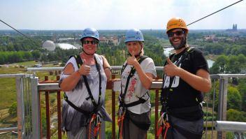 Das mutige Team vlnr: Tanja (Nakieken), Patricia (Moms Blog) und Marc (Reisezoom)