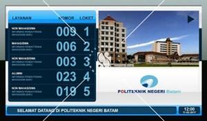Digital Signage Politeknik Batam