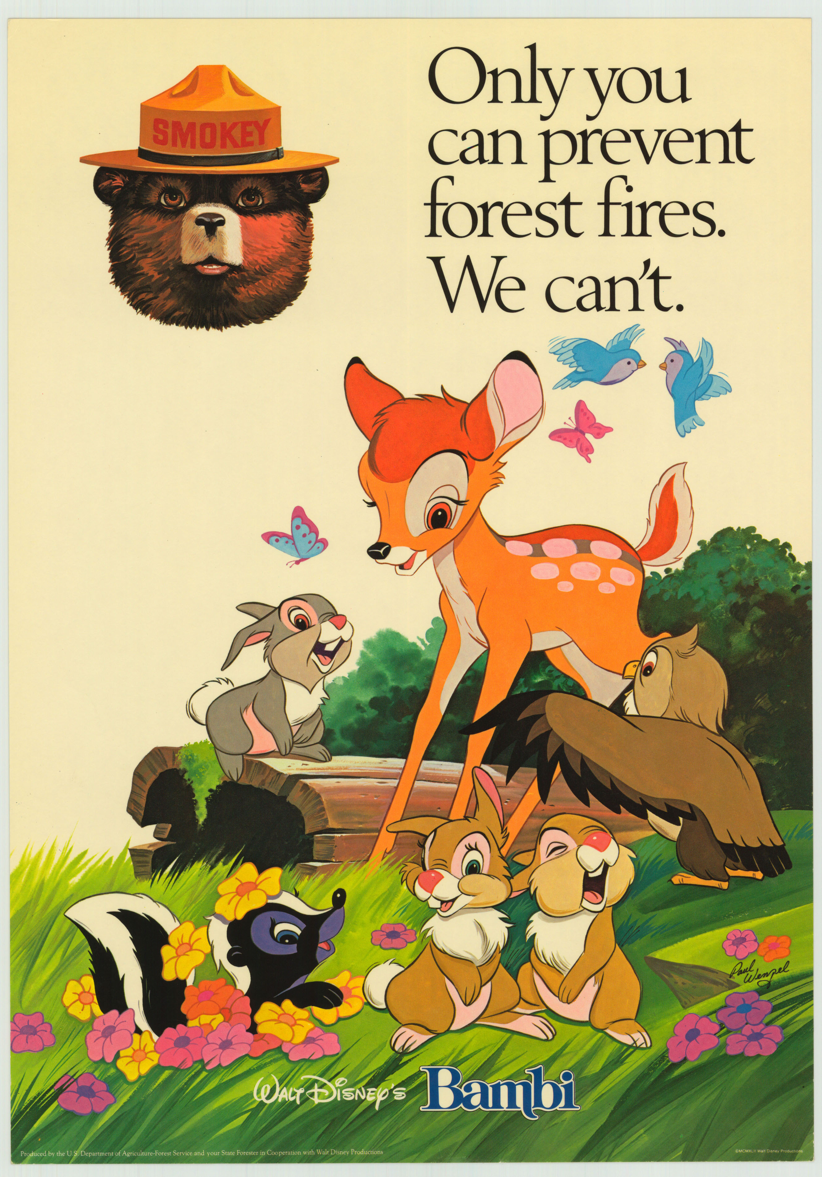 Walt Disney S Bambi Only You Can Prevent Forest Fires