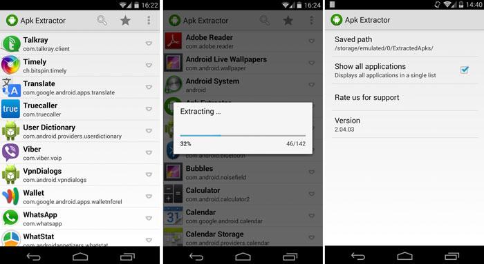 извлекать приложения apk android 2014