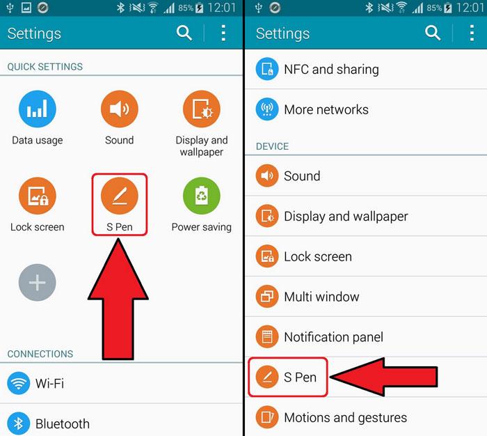 Galaxy Note 4 отключить всплывающее окно с воздушной командой