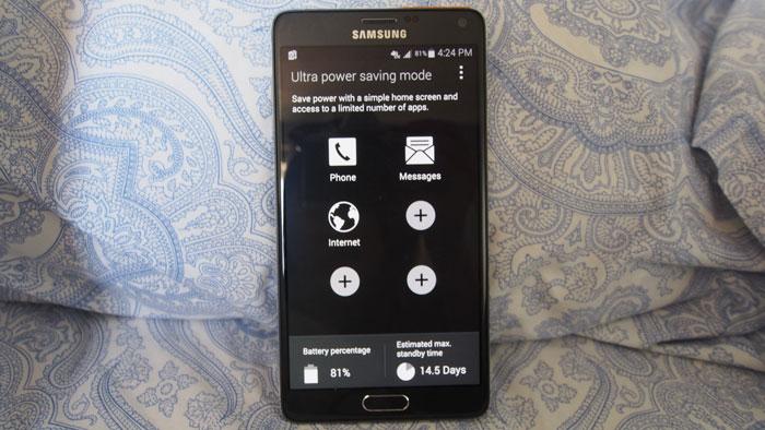 увеличить время автономной работы Galaxy Note 4