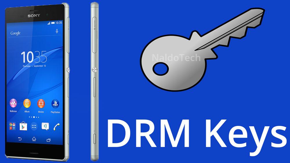восстановить ключи drm xperia разблокирован загрузчик