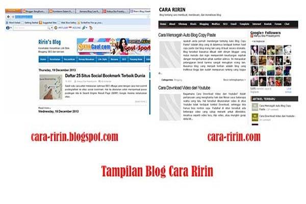 tampilan blog cara ririn