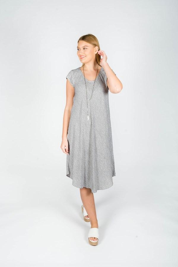 Florence Dress Paris Grey