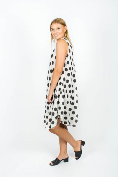Amelia Dress Spot Steel