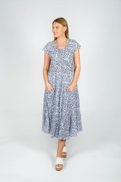 Sophia Dress Fleur Navy