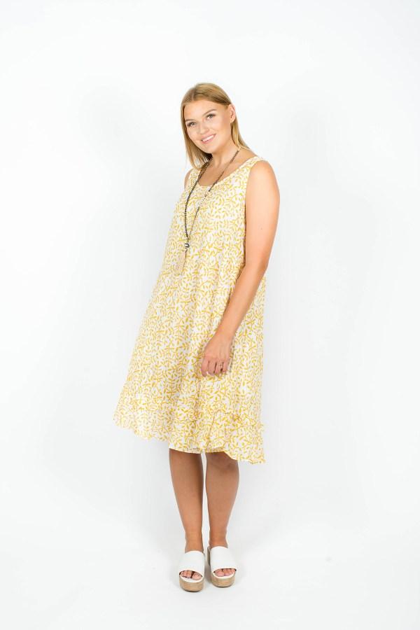 Isabella Dress Fleur Mustard