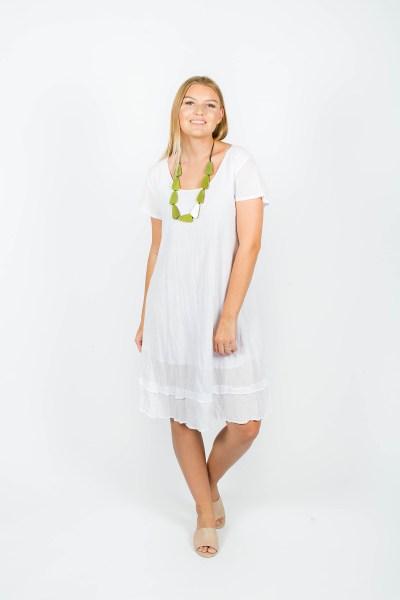 Ivy Dress White