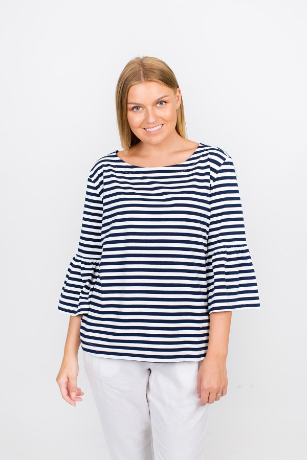 Piper T-Shirt Navy Stripe