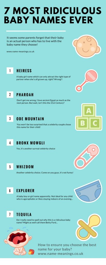 baby names meaning 7 most ridiculous names ever?