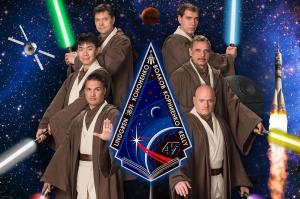 ISS Crew on Star Wars Day