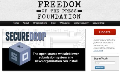 freedom of the press foundation screenshot