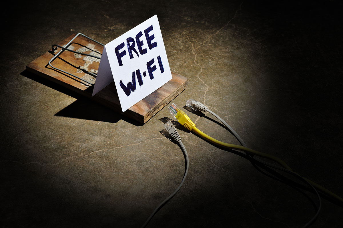 Free wifi sign on mousetrap