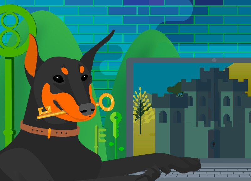Doberman with key for free Comodo SSL