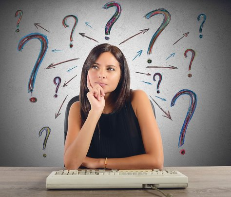 woman wondering what domain to get