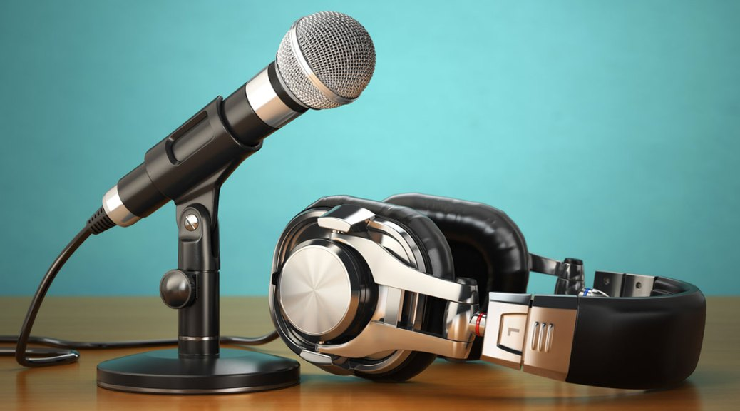headphones and microphone for radio