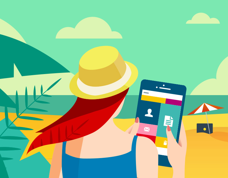 Hero image of How to Stay Connected Even On VacationWhy You Should Choose a Website Over Facebook