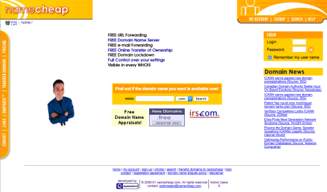 Namecheap in 2000