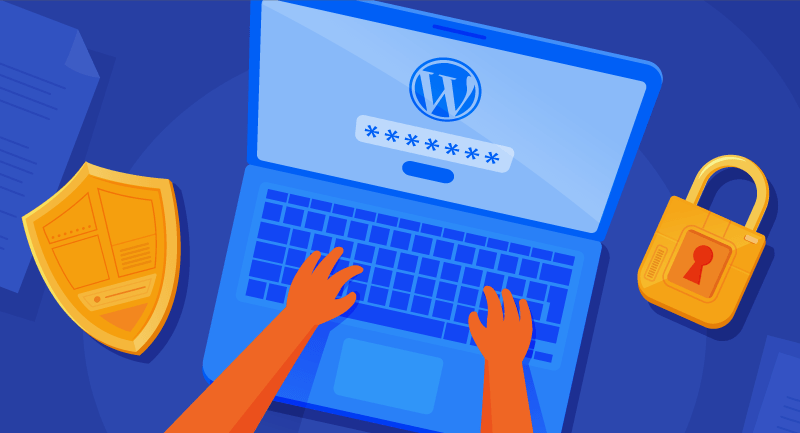 Typing password into WordPress site