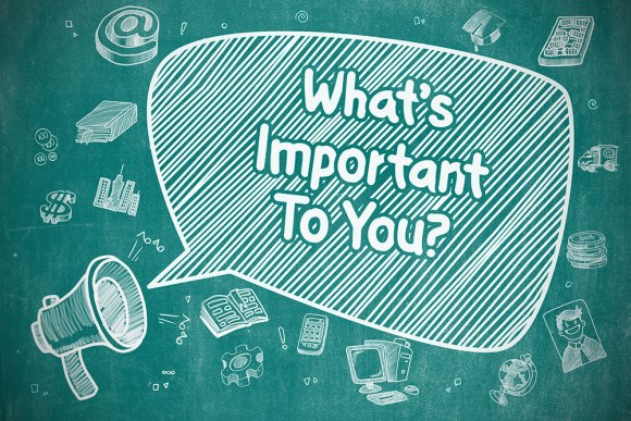 what's important to you graphic